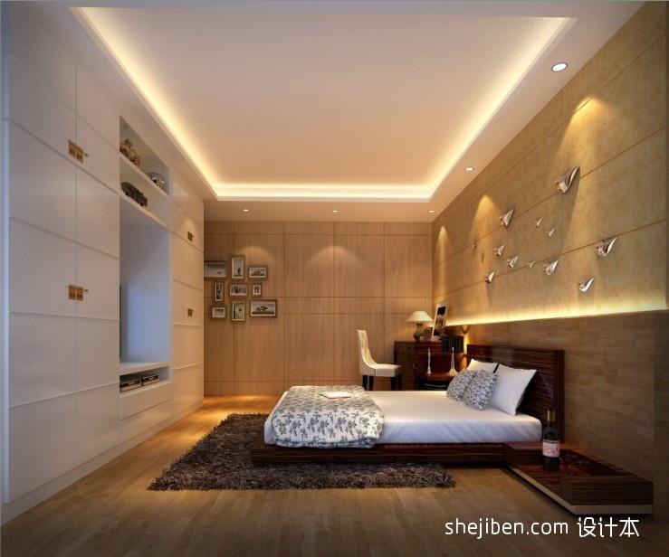 2018最新中式三居卧室效果图