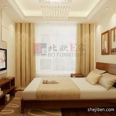 131平米现代复式卧室实景图