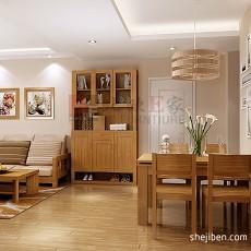 精选80平米二居餐厅现代装修设计效果图片