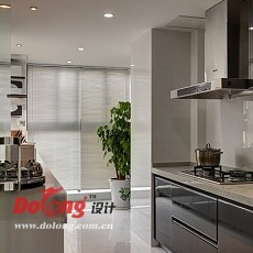 面积103平现代三居厨房效果图
