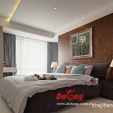 精美109平方三居卧室现代欣赏图片