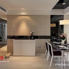 2018106平米三居餐厅现代装修欣赏图片