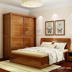 二居卧室中式装修设计效果图片大全