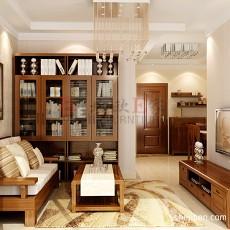 精美中式一居客厅设计效果图