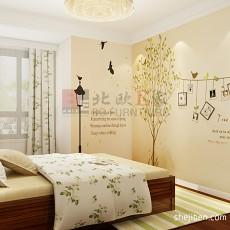 精选面积77平中式二居卧室装修欣赏图