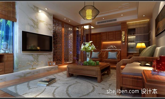 面积85平现代二居客厅设计效果图