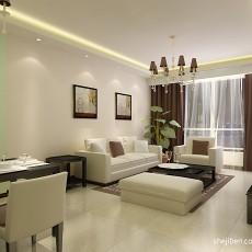 热门面积90平混搭二居客厅装修设计效果图