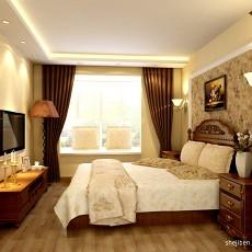 精美面积91平混搭三居卧室装饰图