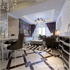 精美客厅三居现代装饰图片欣赏