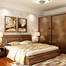 精选面积83平现代二居卧室实景图片