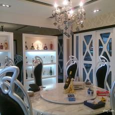 热门104平方三居餐厅现代装修图片欣赏
