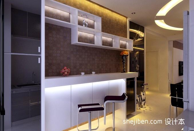 现代客厅吧台装修效果图