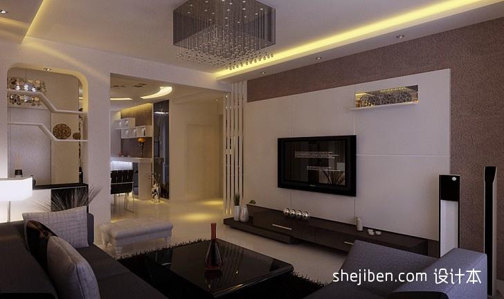 74平方二居客厅混搭装饰图片