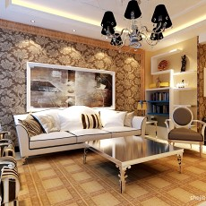 精选面积105平混搭三居客厅实景图片欣赏