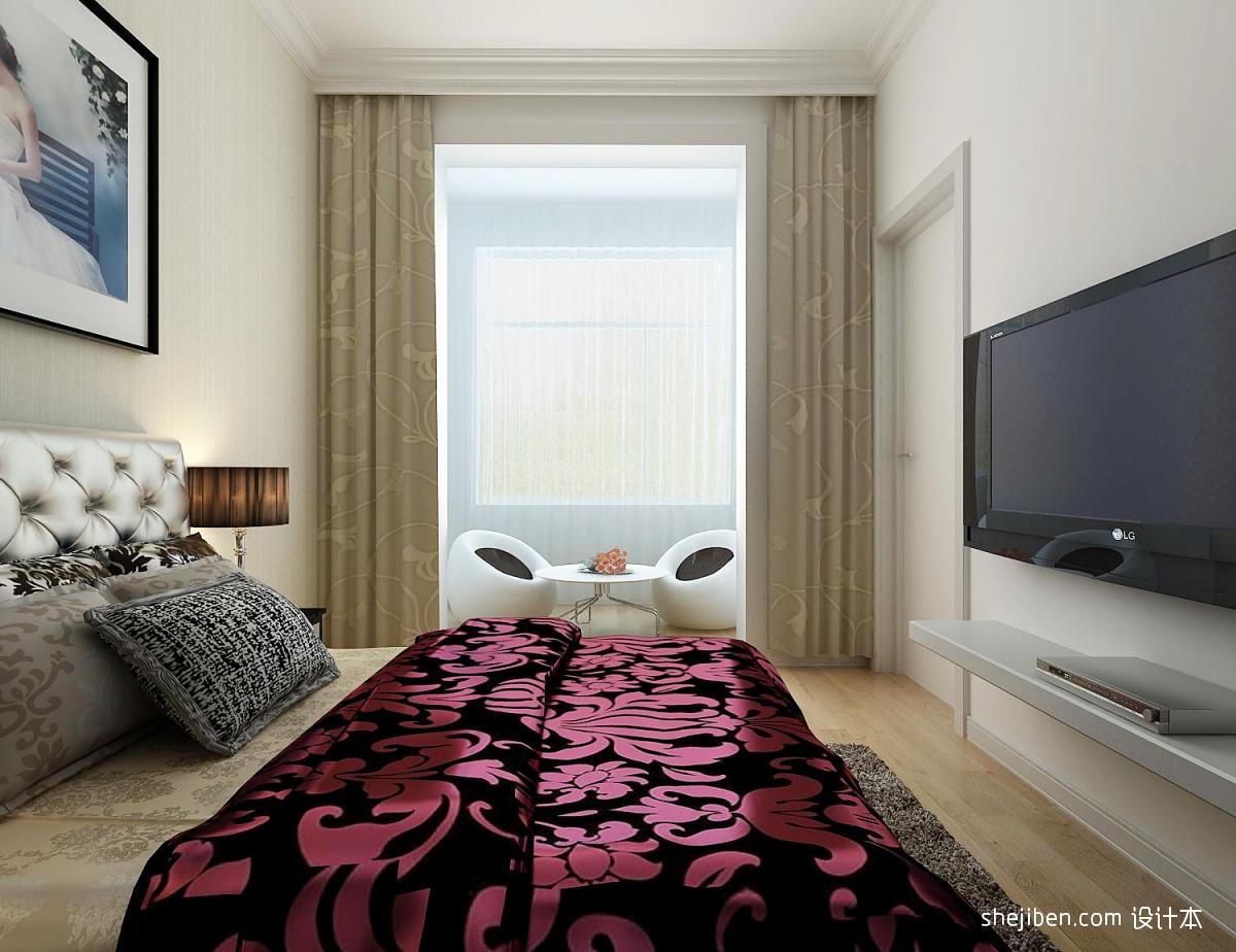 76平米二居客厅混搭装修设计效果图