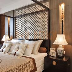 精美102平米三居卧室中式装饰图片