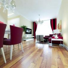 混搭风格客厅三层复合实木地板效果图