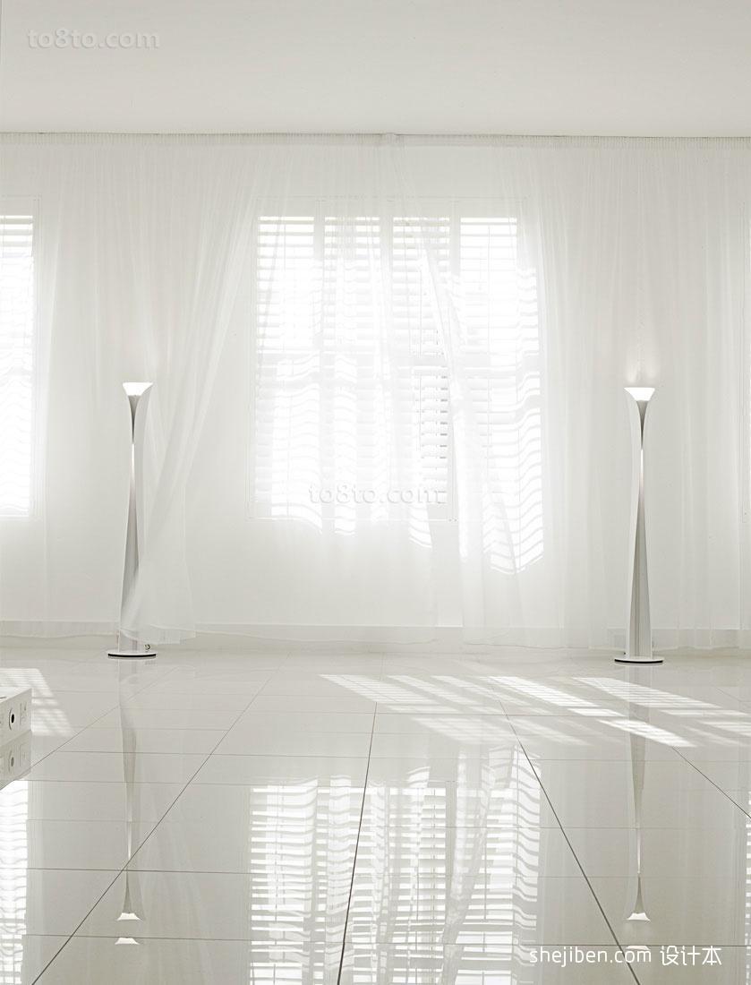 欧式白色窗帘纱