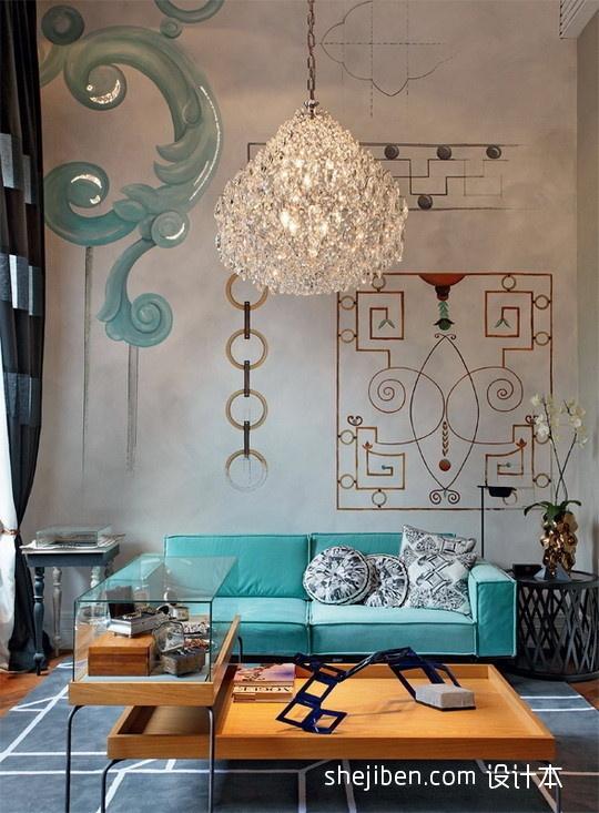 144平米混搭复式客厅装修效果图