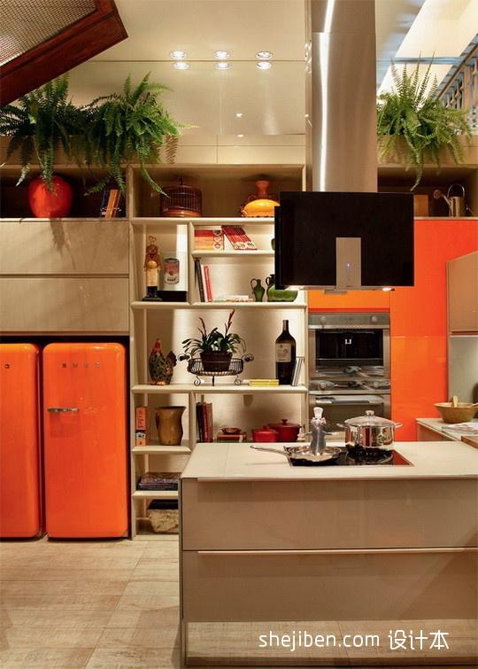 面积119平复式厨房混搭装修效果图片大全