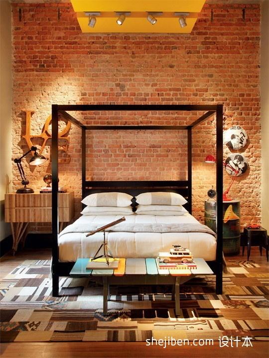 121平米混搭复式卧室效果图