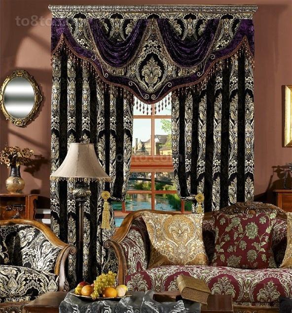 古典欧式窗帘图片