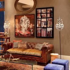 面积112平复式客厅混搭装修实景图片欣赏