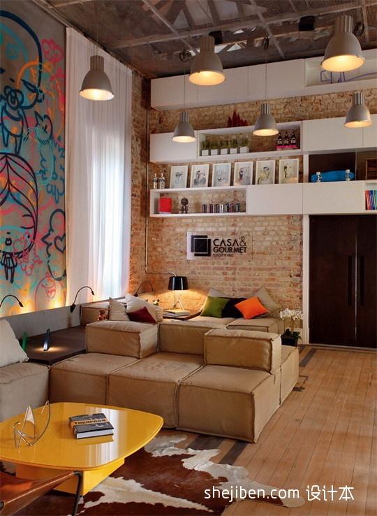 热门134平米混搭复式客厅设计效果图