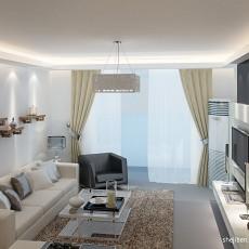 精选98平大小客厅三居混搭装修设计效果图