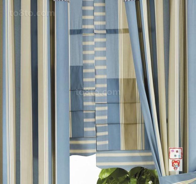 条纹窗帘装修效果图