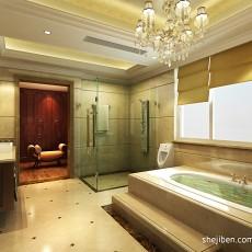 热门面积117平别墅卫生间混搭装饰图片