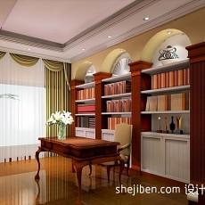 精美110平米混搭别墅书房效果图片大全