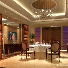 119平米混搭别墅餐厅装饰图