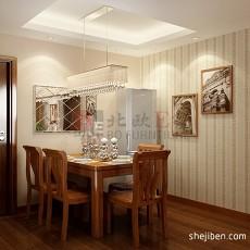 精美98平米三居餐厅中式效果图