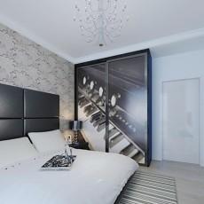 精选面积76平现代二居卧室装修设计效果图