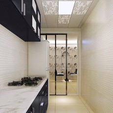 精选面积106平现代三居厨房装修图片