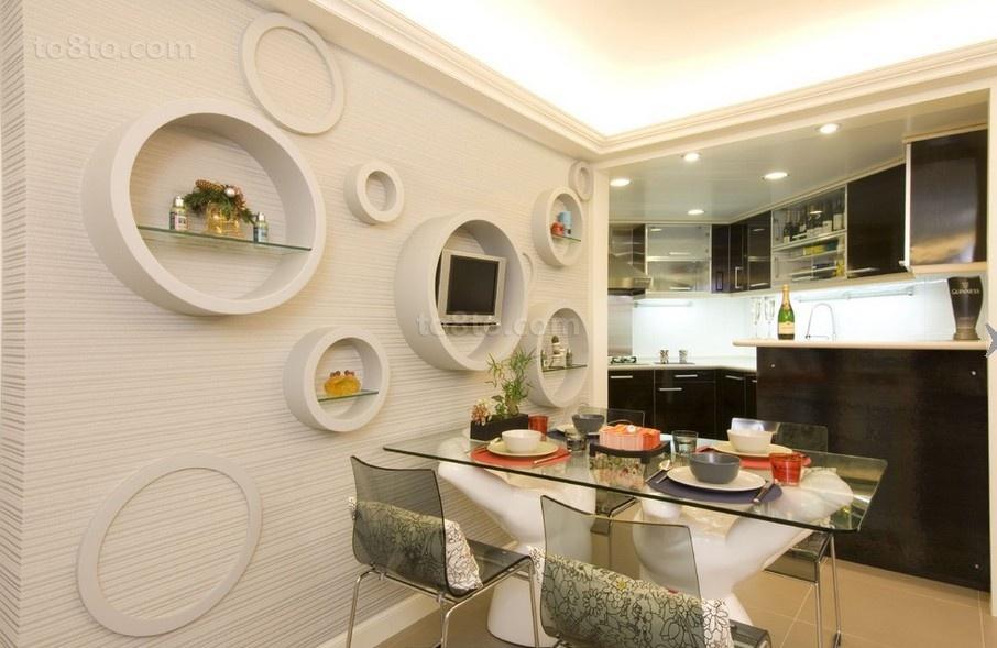 家庭餐厅背景墙效果图