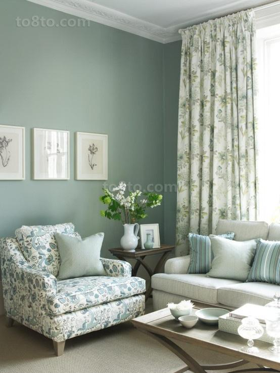 2013客厅窗帘装修效果图片