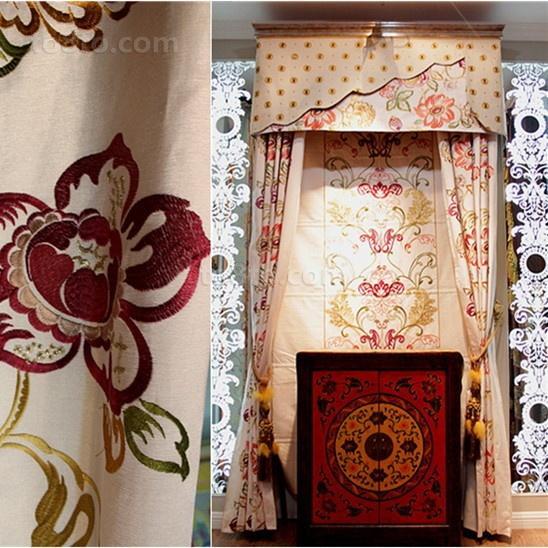 最新卧室窗帘装修效果图