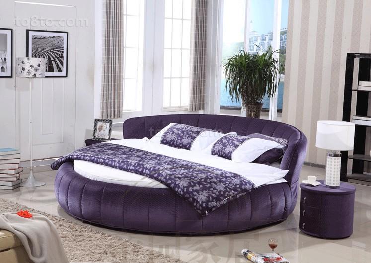 卧室圆床图片
