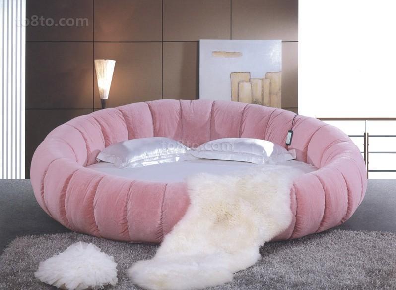 最新卧室圆床图片