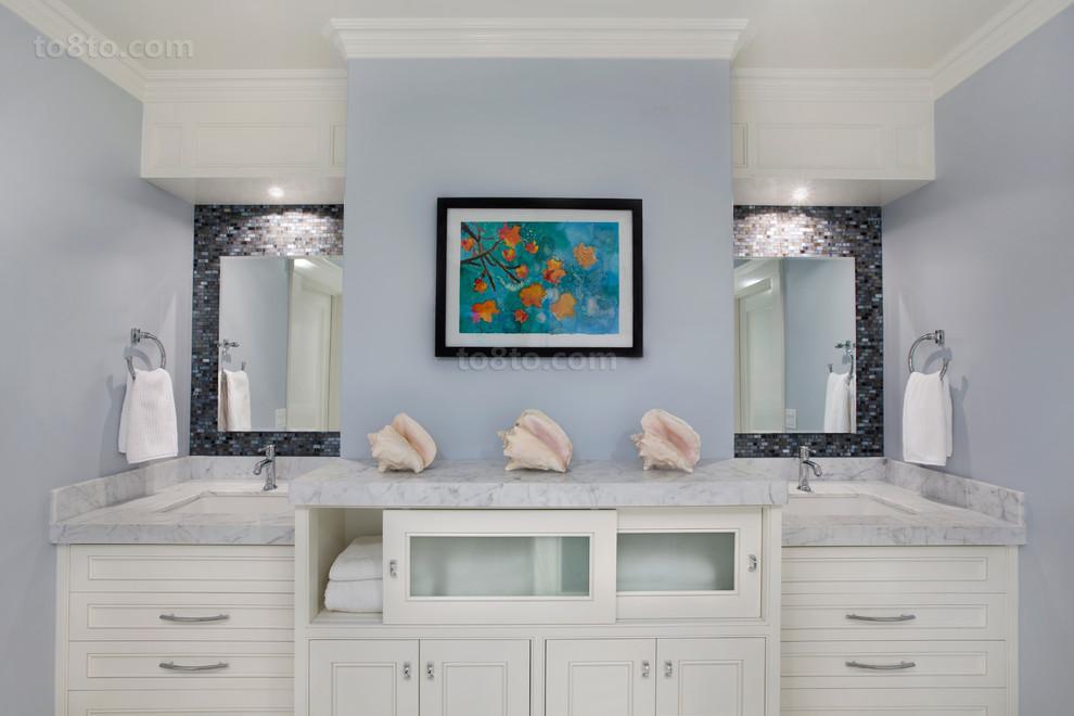 卫生间浴室柜装潢效果图