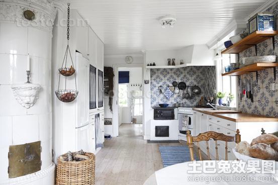 欧式开放式厨房装修效果图大全2013