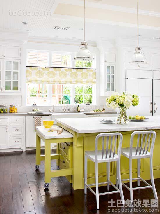 最新简约开放式厨房装修效果图