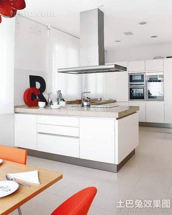 现代简约开放式厨房装修效果图大全