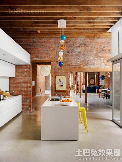 农村别墅开放式厨房装修效果图