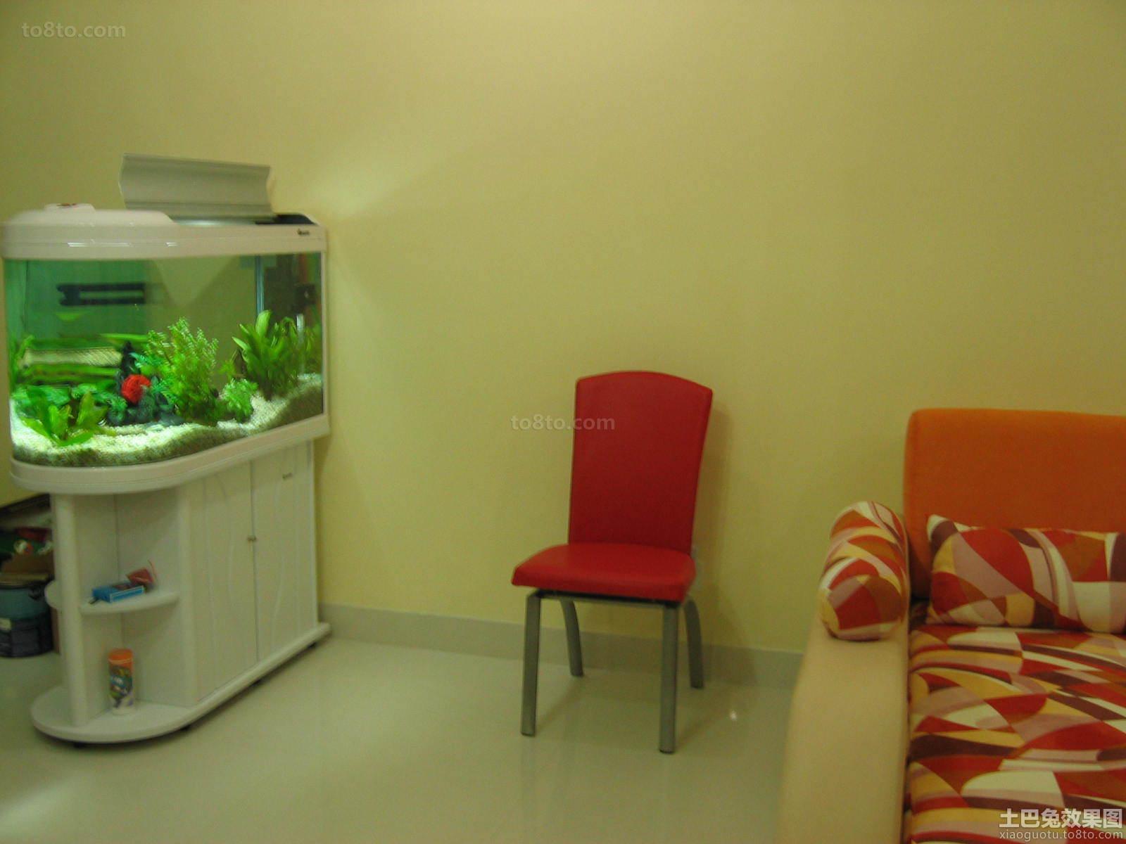 客厅鱼缸的摆放效果图