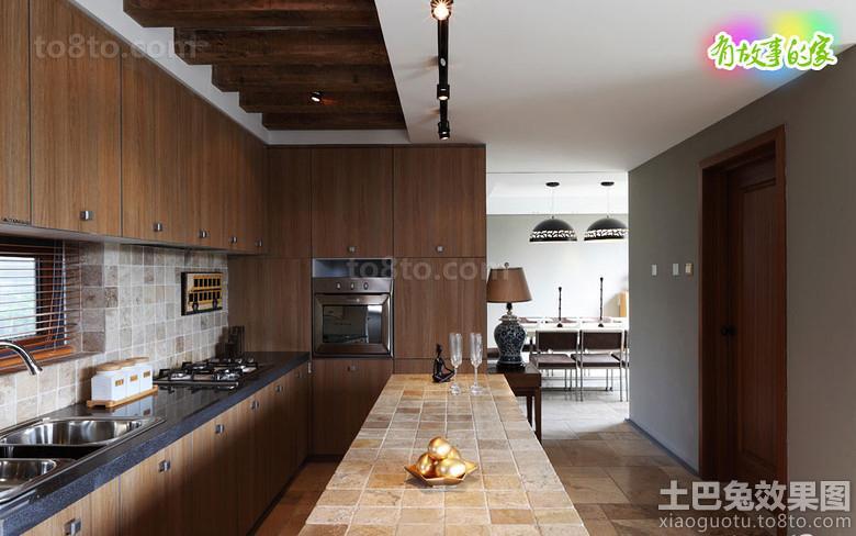 2013简约开放式厨房吧台装修效果图