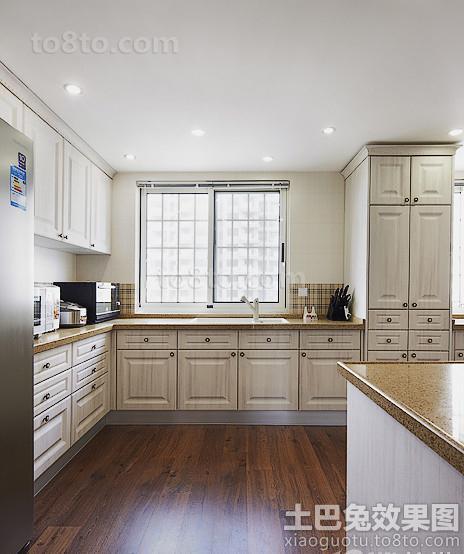 欧式开放式厨房整体橱柜效果图欣赏