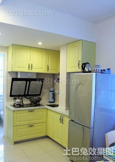 小户型开放式厨房橱柜效果图